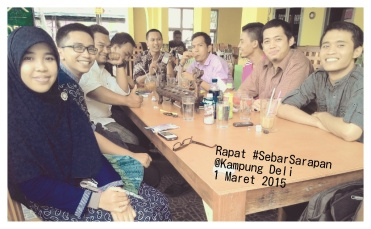 Rapat Perdana #SebarSarapan bareng komunitas @odojd_SUMUT & @PejuangSbhMedan